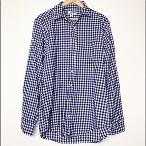 American Apparel Navy & White Gingham Flannel